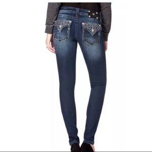 Miss Me Totally Mesmerized Flap Skinny Jean